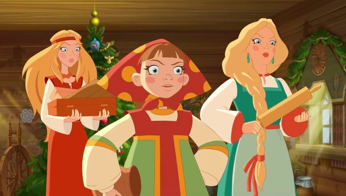 Три богатыря и принцесса Египта (2017) HDRip